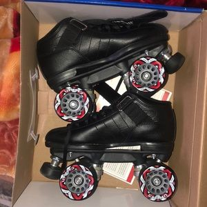 Other - Black red wheeled skates